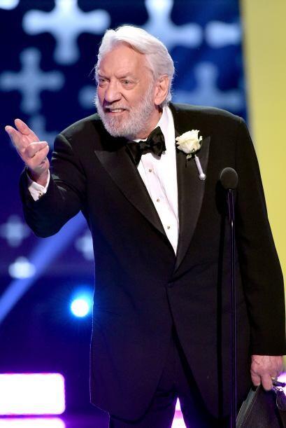"Donald Sutherland ganó por ""The Hunger Games""."