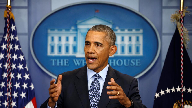 Obama durante su último encuentro con la prensa en la Casa Blanca.