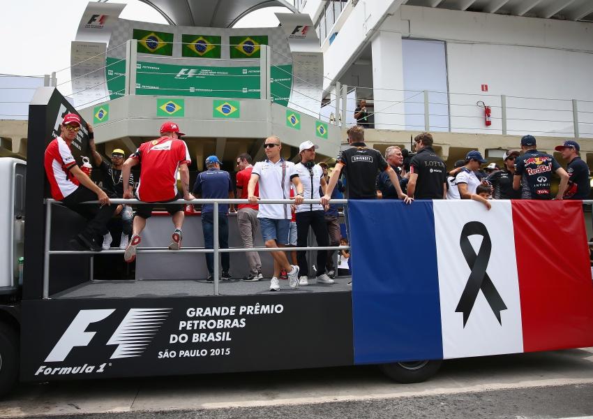 Fórmula Uno, de luto por víctimas de París