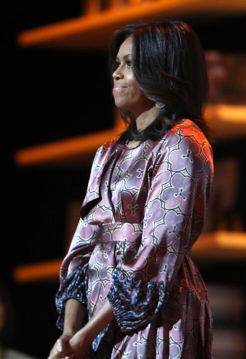 Michelle Obama y su optimismo hecho vestido   GettyImages-495583522.jpg