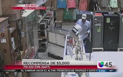 Recompensa de $5,000 por ladrones de armas
