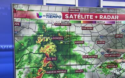 Sistema trae lluvias y tormentas en San Antonio y alrededores
