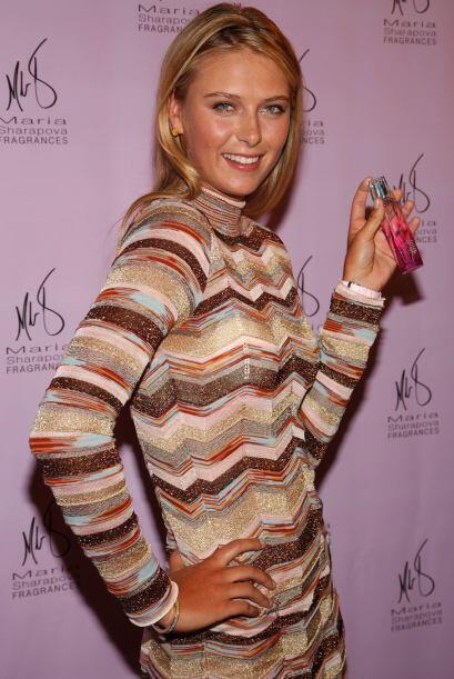 Entró al mundo de las fragancias con su perfume María Sharapova en el 20...