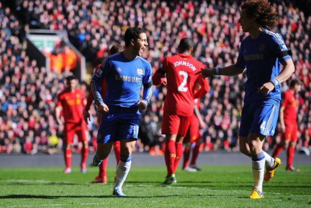 El mediocampista belga Eden Hazard disparó de forma adecuada para coloca...