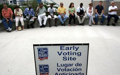 Votación temprana en Florida.