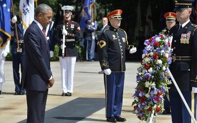 Barack Obama rindió homenaje a los soldados que entregaron su vida luchando