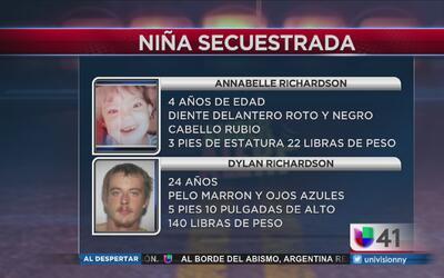 Buscan en Nueva Jersey a una niña de cuatro años secuestrada en Virginia