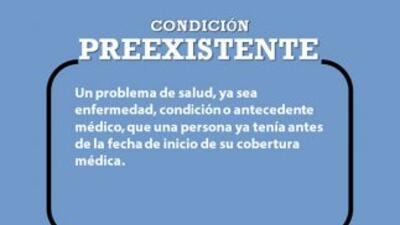 Glosario - Ley de salud - Condición preexistente