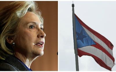 La candidata presidencial demócrata abogó por Puerto Rico.