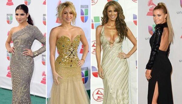 El desfile de bellezas impuso tendencias en la alfombra de Latin GRAMMY,...