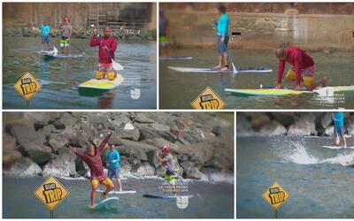 Estos Dos: Sin Frenos se fueron paddleboarding por El Morro