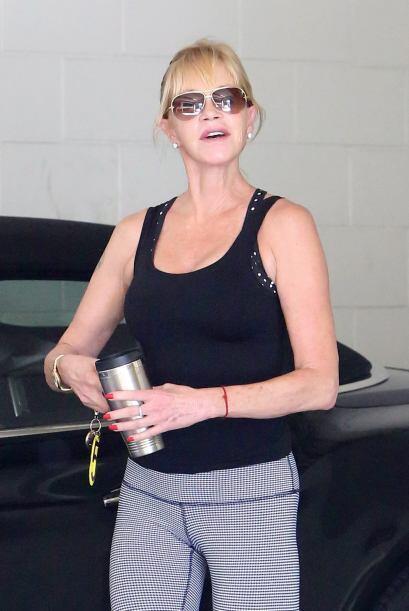 Melanie fue captada mientras abandonaba un gimnasio en Beverly Hills.