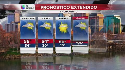 Sacramento tendrá lluvias ligeras este miércoles