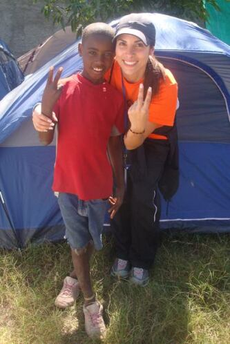 Lo que más le gustó a Natalia fue ver las sonrisas de los niños haitianos.