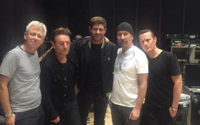 Steven Gerrard se reunió con U2 en Los Ángeles