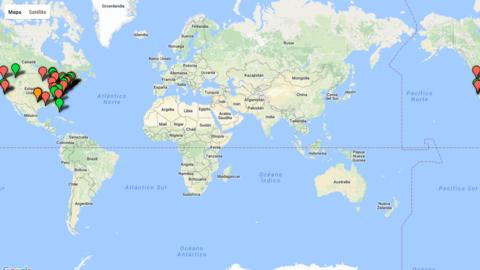 Screenshot mapa Trump
