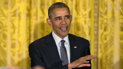 El presidente Barack Obama durante la celebración del Cinco de Mayo de 2...