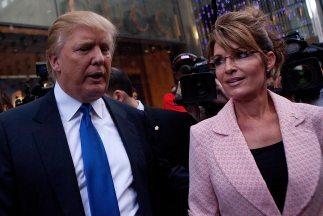 Donald Trump y Sarah Palin.