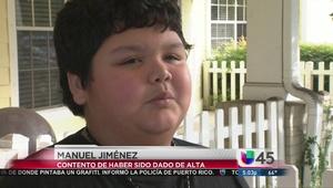 Salió del hospital niño víctima de balacera a su casa