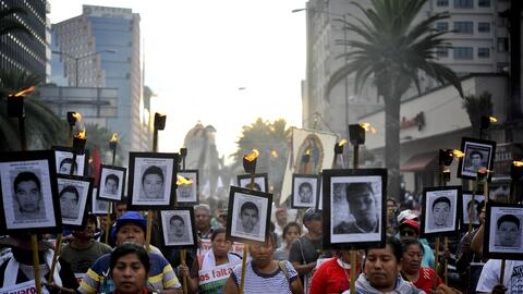 Una de las últimas protestas por los estudiantes desaparecidos en el mun...