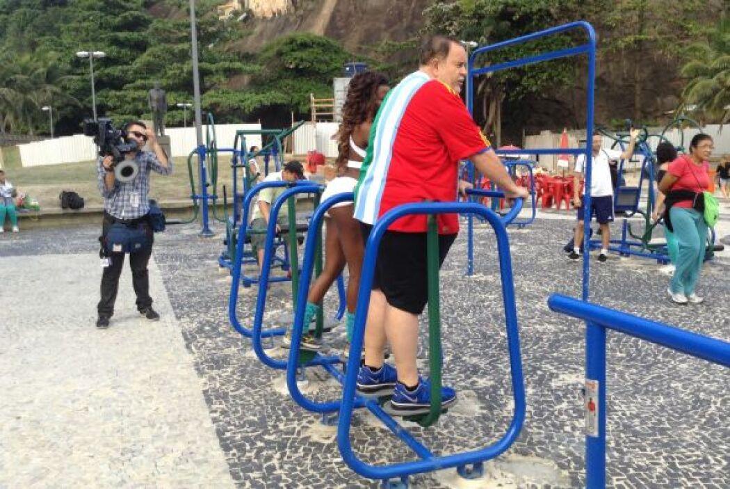 Al Gordo de Molina le cayó muy bien hacer un poco de ejercicio.