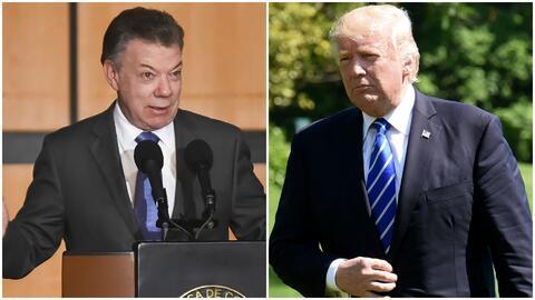 Juan Manuel Santos visita este miércoles al presidente Donald Trump en l...