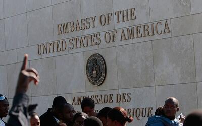 La embajada de Estados Unidos en Puerto Príncipe, Haití.