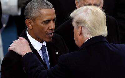 """""""Sé que le caigo bien"""", dice Trump sobre su relación con Obama"""