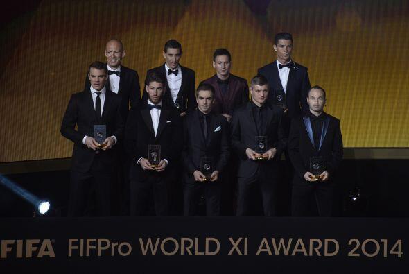 Messi, Cristiano, Ramos, Iniesta, Kroos y Di María encabezaron el...