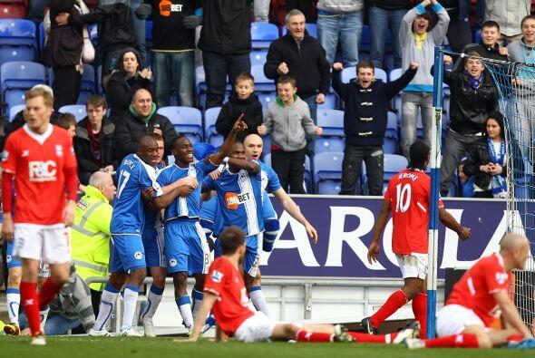 El hondureño anotó el tanto del triunfo final del Wigan por 2-1.