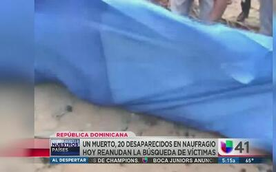 Naufraga yola en aguas de República Dominicana