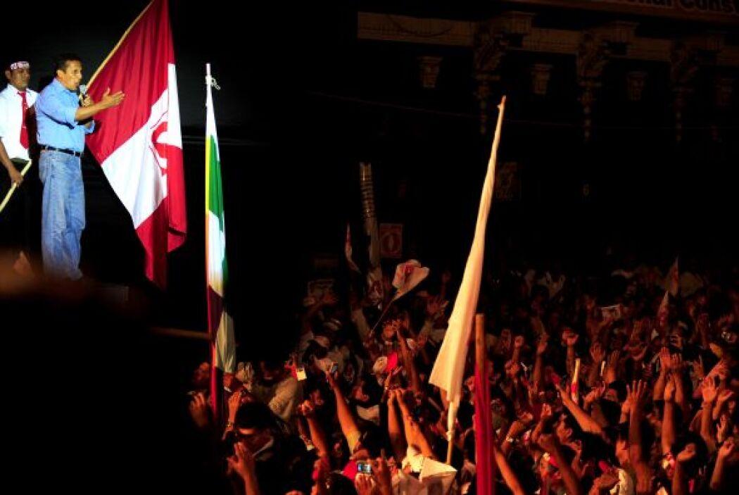 A un paso de las elecciones presidenciales de Perú, el ex militar izquie...