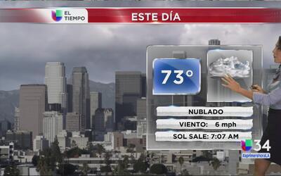 Los Ángeles tendrá un martes nublado