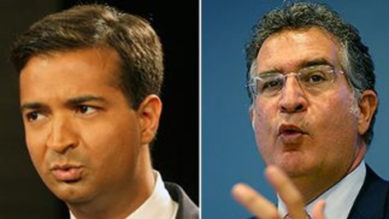 El republicano Carlos Curbelo y el demócrata Joe García, candidatos al C...