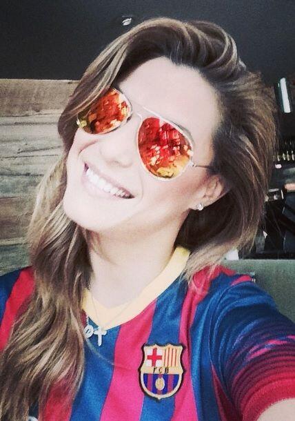 Como buena argenitna, Rosina es amante del fútbol y así se preparó para...