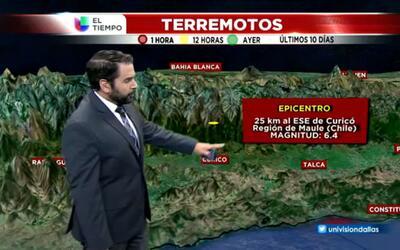 El tiempo: terremoto en Chile
