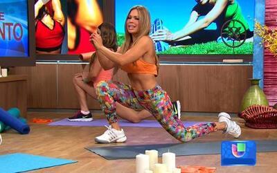 Técnicas de estiramiento para antes y después del ejercicio con Claudia...