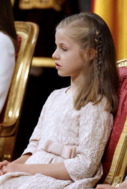 La princesa de Asturias, durante la ceremonia de proclamación del rey Fe...