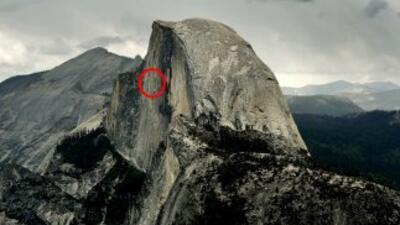 Se desprendió un pedazo gigantesco de Regular Northwest Face de Half Dom...