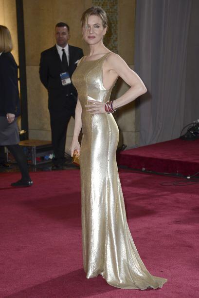 Renee Zellweger dejó atrás las libritas de 'Bridget Jones'...
