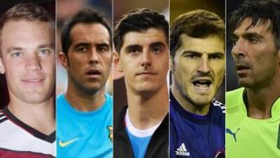 Neuer, Bravo, Courtois, Casillas y Buffon son los candidatos a Mejor por...