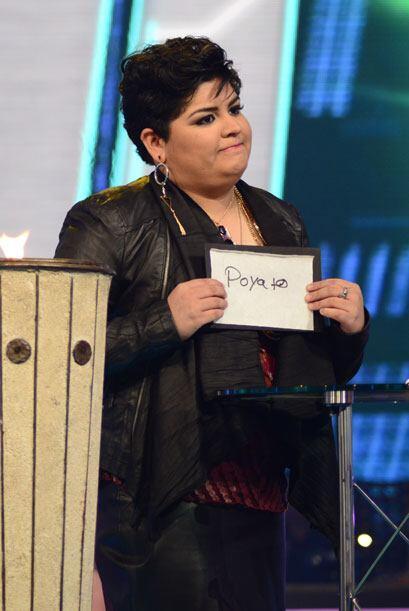 Stephanie durante las votaciones de la gala nueve.