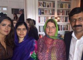 Salma Hayek y Malala
