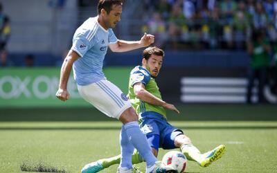 Frank Lampard, y un gol con polémica en Seattle.