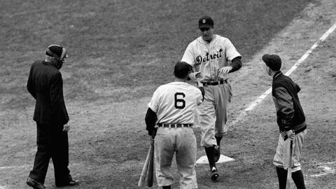 Los Detroit Tigers vencieron a los Cubs en la Serie Mundial de 1945.