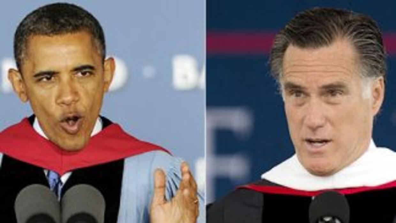 Pese a que Mitt Romney obtiene una leve ventaja sobre Barack Obama en la...