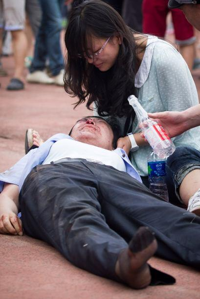 Según la universidad, al menos resultaron heridos dos polic&iacut...