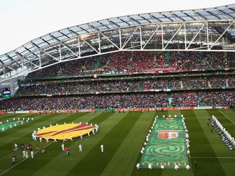El estadio Aviva de Dublín, capital de República de Irland...