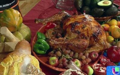 Receta de Pavo Adobado y relleno de camarones y aguacate al estilo Chileno