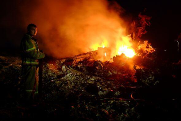 Apenas se conoció el lugar donde cayó el avión de Malaysia Airlines los...